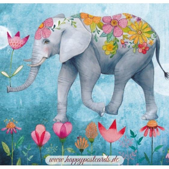 Blumenelefant - Mila Marquis Postkarte