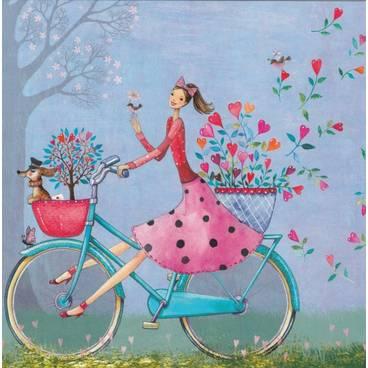 Happy Bicycle Tour - Mila Marquis Postcard