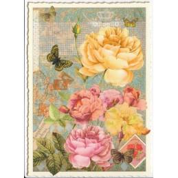 Blumen - Tausendschön - Postkarte