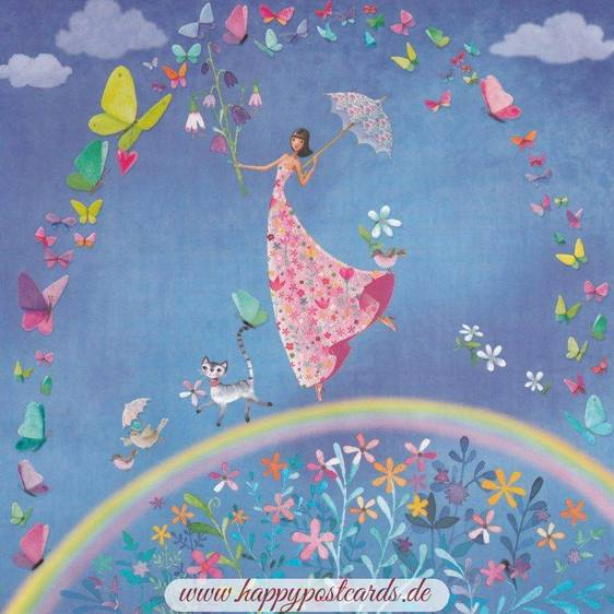 Regenbogenlauf - Mila Marquis Postkarte
