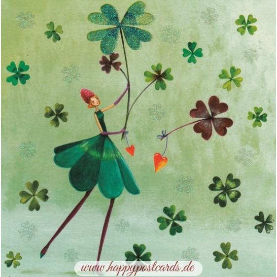 Kleefrau - Mila Marquis Postkarte