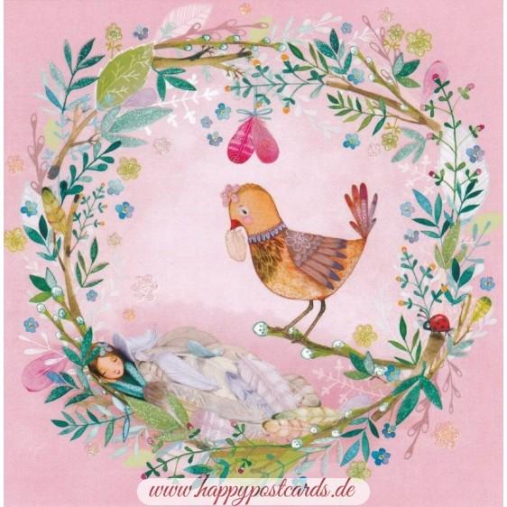Bird in a Collar - Mila Marquis Postcard