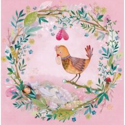Vogel im Kranz - Mila Marquis Postkarte