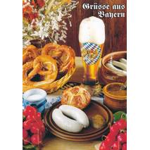 Typical Bavarian Meal - Viewcard