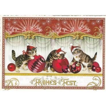 Drei Katzen - Tausendschön - Postkarte
