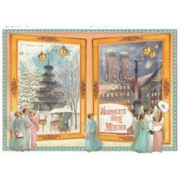 Weihnachtsgruß aus München - Tausendschön - Weihnachtspostkarte