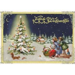 Stille Nacht - Tausendschön - Weihnachtspostkarte