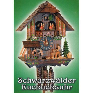 Schwarzwälder Kuckucksuhr - Ansichtskarte