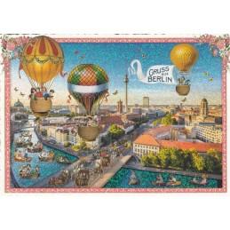 Berlin - Panorama - Tausendschön - Postcard