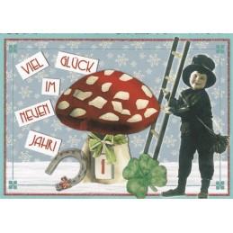 Viel Glück im neuen Jahr - Tausendschön - Weihnachtspostkarte