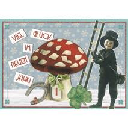 Viel Glück im neuen Jahr - Tausendschön - Weihnachtskarte