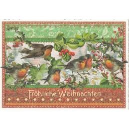 Rotkehlchen - Tausendschön - Weihnachtspostkarte