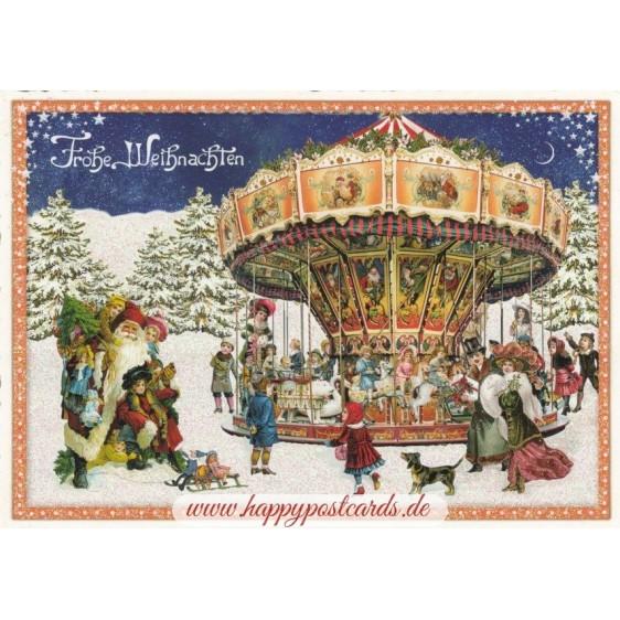 Weihnachtskarussell - Tausendschön - Postkarte