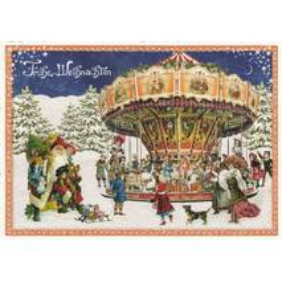 Christmas Carousel - Tausendschön - Postcard