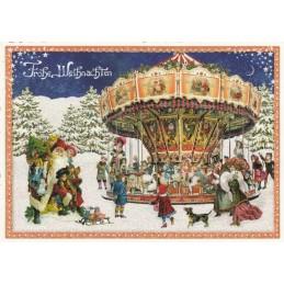 Weihnachtskarussell - Tausendschön - Weihnachtspostkarte