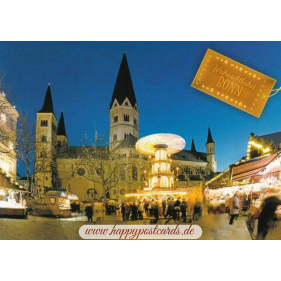 Bonn Christmas market - Viewcard