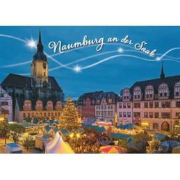 Naumburg / Saale - Weihnachtsmarkt - Ansichtskarte