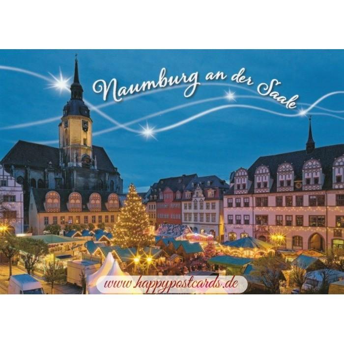 Naumburger Weihnachtsmarkt.Naumburg Saale Weihnachtsmarkt Ansichtskarte