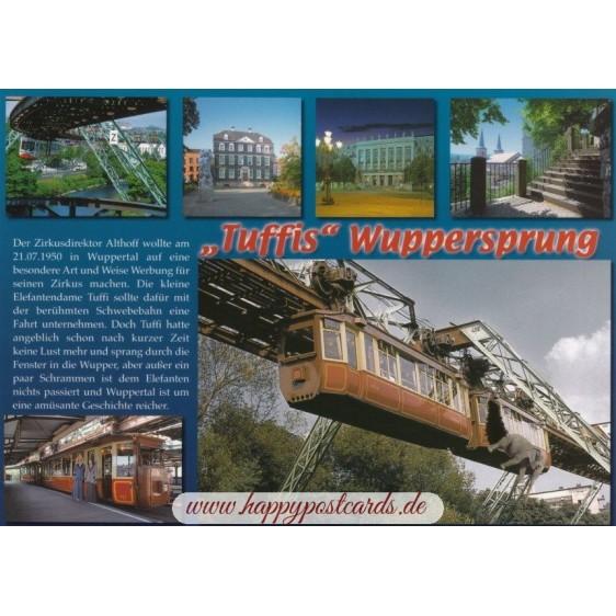 Wuppertal - Tuffis Wuppersprung - Chronikkarte