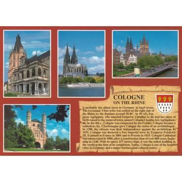 Köln englisch - Chronikkarte