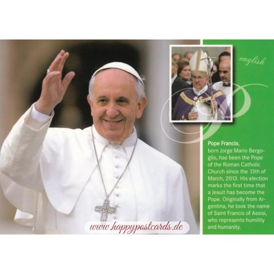 Papst Franziskus englisch - Chronikkarte