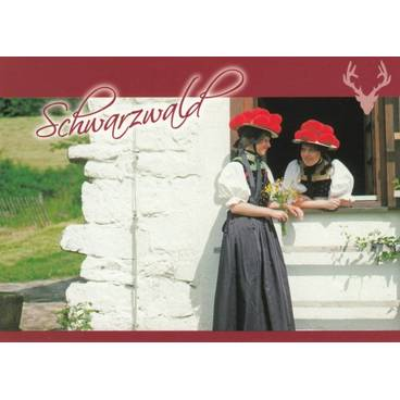 Traditional Costumes - Black Forest - Viewcard