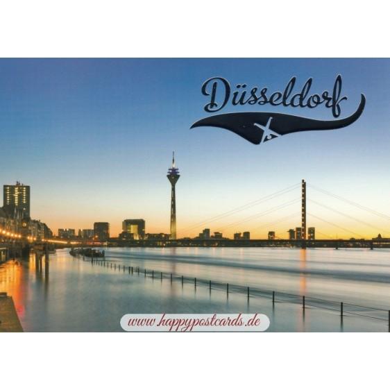 Düsseldorf - TV tower - Viewcard