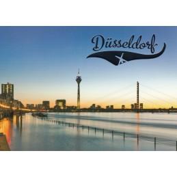 Düsseldorf Rheinturm - Ansichtskarte