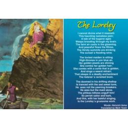 Loreley - Gedicht Heine engl. - Ansichtskarte