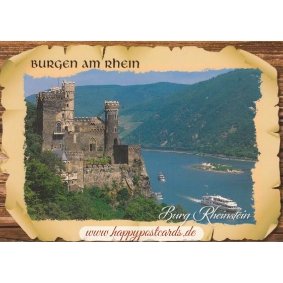 Burg Rheinstein - Ansichtskarte