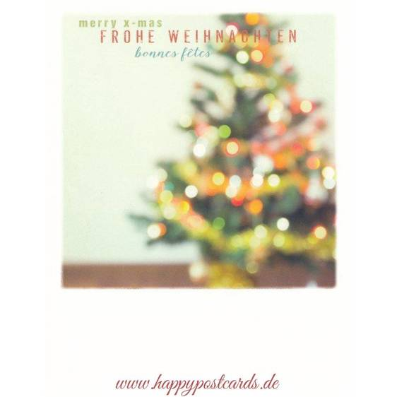 Christmas tree in 3 languages - PolaCard