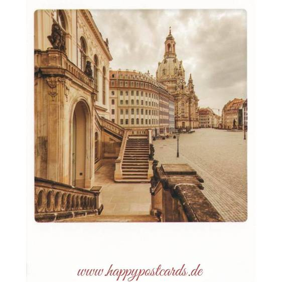 Dresden - Neumarkt and Frauenkirche - PolaCard