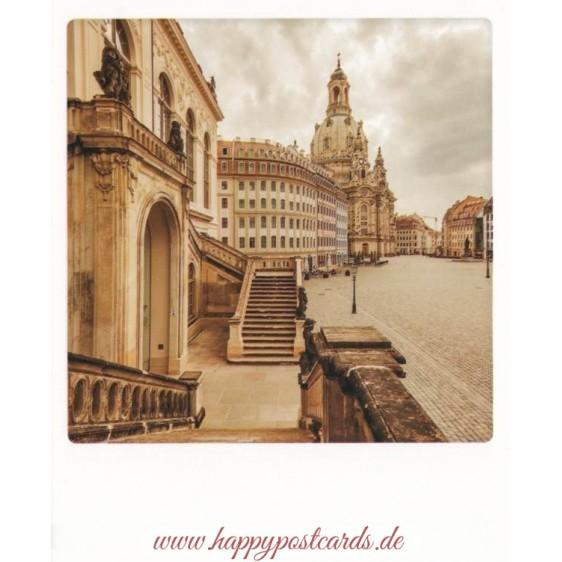 Dresden - Neumarkt mit Frauenkirche - PolaCard