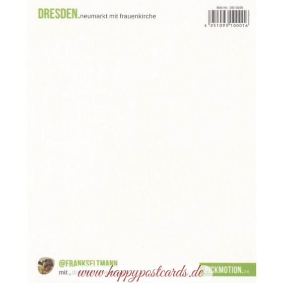Dresden - Neumarkt and Frauenkirche - PolaCard