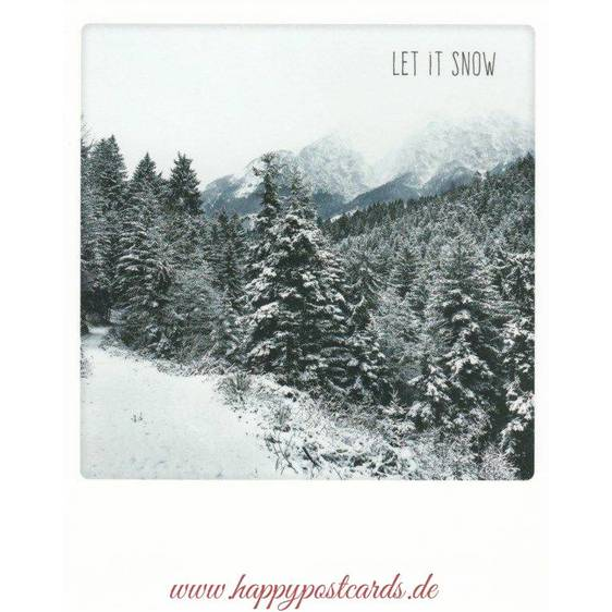Let it snow - PolaCard