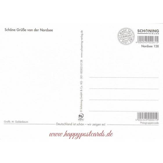 Lives in the Wadden Sea - Viewcard
