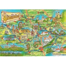 Altmühltal - Map - Postcard