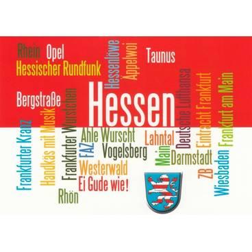 Hessen - Wörterkarte