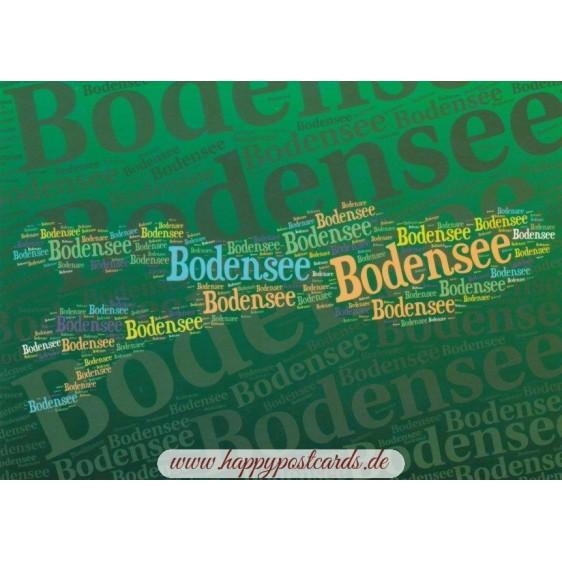 Bodensee - Wörterkarte