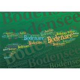 Bodensee Words - Viewcard