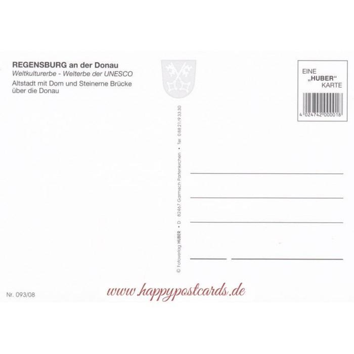 Karte Regensburg Altstadt.Ansichtskarten Unesco Weltkulturerbe Regensburg An Der