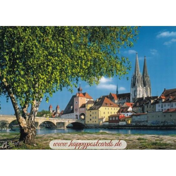 Regensburg an der Donau - Ansichtskarte