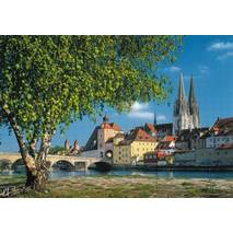 Regensburg at the Danube 2 - Viewcard