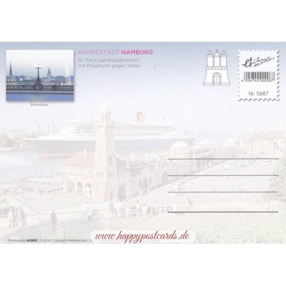 Hamburg Landungsbrücken - Viewcard