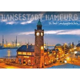 Hamburg - Landungsbrücken - Ansichtskarte