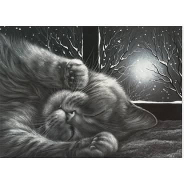 Gemütlich - Garmashova Postkarte