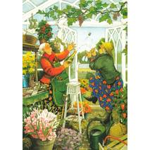 42 - Old Ladies in Garden - Postcard