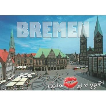 Küsschen Bremen - Ansichtskarte