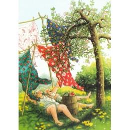 48 - Old Ladies lie on Gras - Postcard
