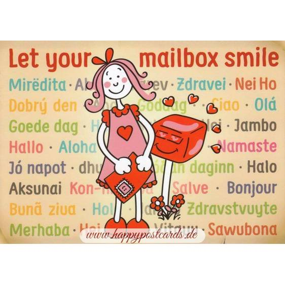 Let your mailbox smile - Spruchkarte